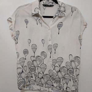 Hot air balloon blouse